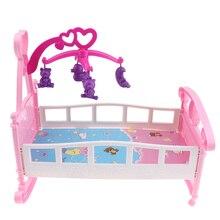 Simulation Puppe Bett Schaukeln Wiege Spielzeug Puppenhaus Möbel für MellChan Baby