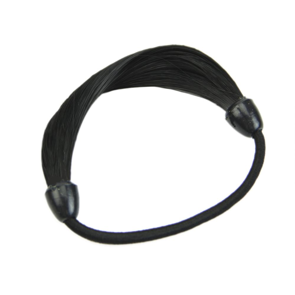 Модный корейский парик, заколки для волос, резинка для волос - Цвет: Черный