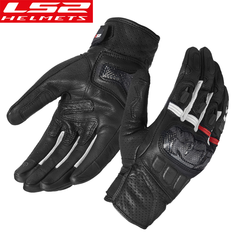 LS2 motorcycle riding gloves ls2 carbon fiber shell motorcycle gloves breathable windproof