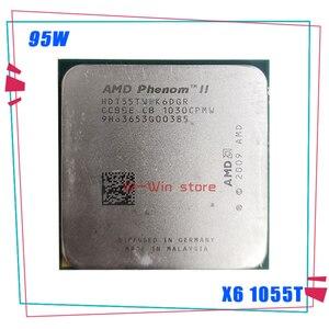 Image 1 - AMD Phenom II X6 1055T X6 1055T 2.8G 95 واط ستة النواة معالج وحدة المعالجة المركزية HDT55TWFK6DGR المقبس AM3