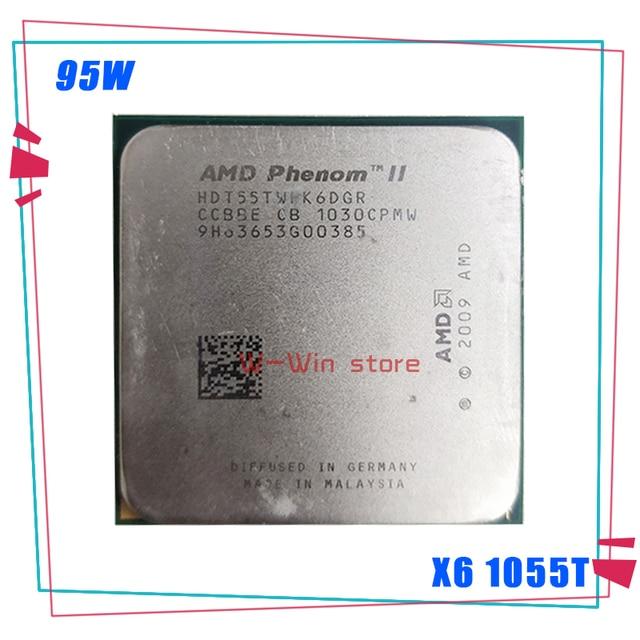 AMD Phenom II X6 1055T X6 1055T 2.8G 95 واط ستة النواة معالج وحدة المعالجة المركزية HDT55TWFK6DGR المقبس AM3