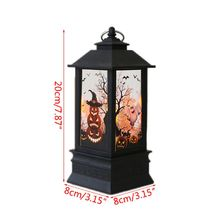 Halloween Vintage Pumpkin Castle LED Painted Lamp Hanging Wind Light Portable Lantern Party Supplies