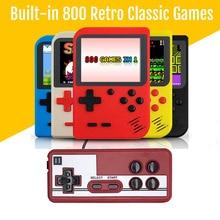 Novo handheld console de jogos de vídeo 3.0 polegada 8 bits embutido 800 fc clássicos jogos das crianças presentes retro mini jogador de jogo de bolso