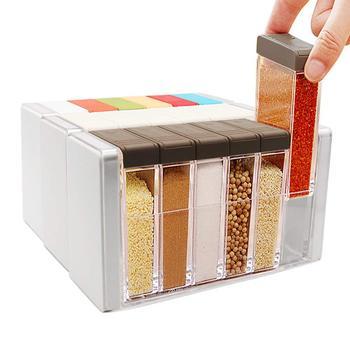 6 قطعة/المجموعة المطبخ برطمان توابل صندوق توابل المطبخ التوابل زجاجة تخزين الجرار شفافة الملح و الفلفل كمون ناعم مربع أداة