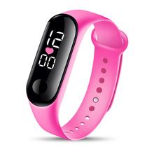 Bransoletka sportowa inteligentne zegarki damskie cyfrowe elektroniczne zegarki damskie dla kobiet zegarki damskie dziewczęce zegarki chłopięce Hodinky tanie tanio GoGoey Nie wodoodporne Moda casual Cyfrowy Akrylowe Klamra Z tworzywa sztucznego 22cm Nie pakiet 16mm Silikon Women Watches Digital Men Watches