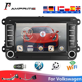 AMPrime 2din Car Radios Android 7 Car Multimedia Player GPS Wifi For VW/Volkswagen Seat/Skoda/Passat/Golf/Polo Audio Stereo image