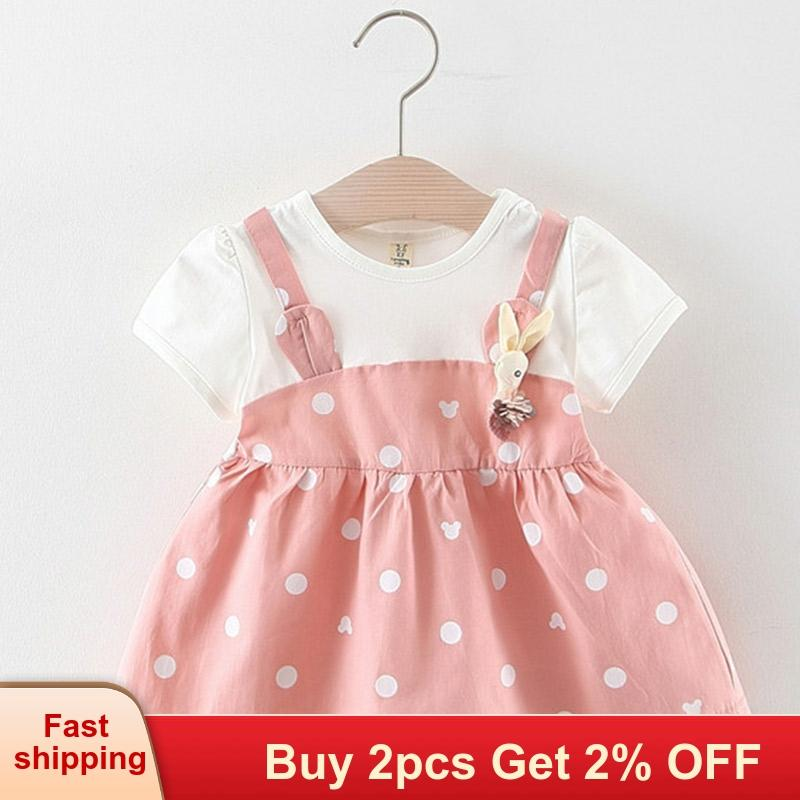 Plaid Dress Backless Toddler Girl Dresses  Short Sleeve Bowknot Kids Party Gown