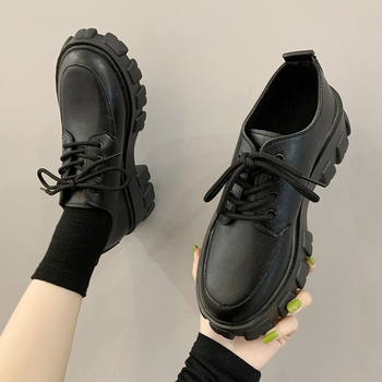 Autumn Platform Casual Shoes Women Chunky Sneakers Height Increasing Shoes Ladies Thick bottom Leather Shoes Zapatos Mujer tuinanle chunky sneakers high heel 10 cm women autumn thick bottom platform sneakers height increasing woman silver casual shoes