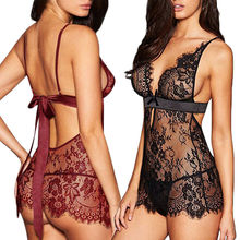 Exotic Apparel Women Sexy Lingerie Lace Dress Underwear Black Red Babydoll Sleep
