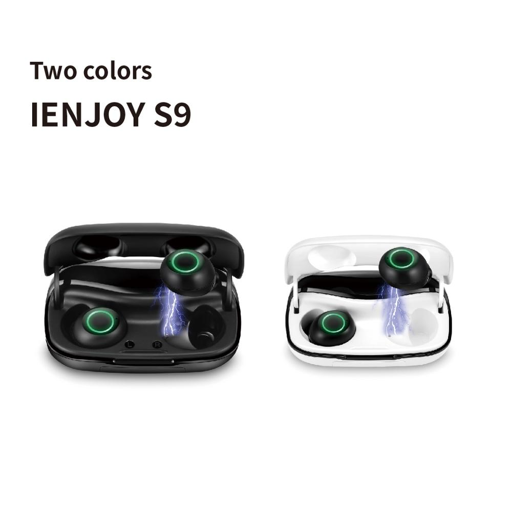 Ienjoy <font><b>S9</b></font> TWS Fingerprint Touch <font><b>Bluetooth</b></font> Earphones, HD Stereo Wireless Headphones,Noise Cancelling Gaming Headset image