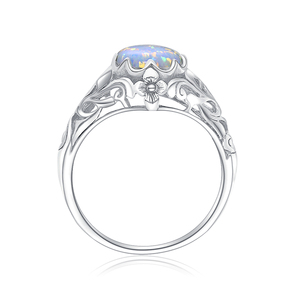 Image 2 - Szjinao אופל טבעת לנשים 925 סטרלינג כסף בציר חן טבעות Fower קסם יוקרה מותג תכשיטי חתונה מתנה 2020