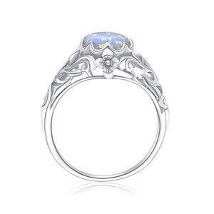 Image 2 - Женское кольцо с опалом Szjinao, винтажные кольца из стерлингового серебра 925 пробы с драгоценными камнями, роскошные брендовые ювелирные украшения, свадебный подарок 2020