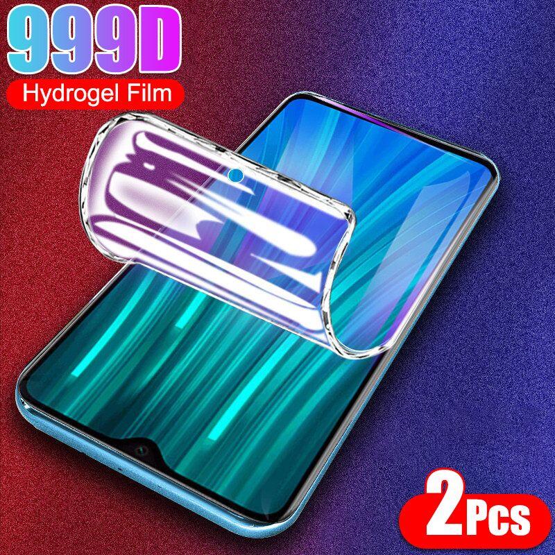2 pçs protetor de tela para xiaomi redmi nota 9 pro max 8 7 9s 8t filme de hidrogel macio para redmi 6 5 plus 9a 8a 7a 6a 5a não vidro