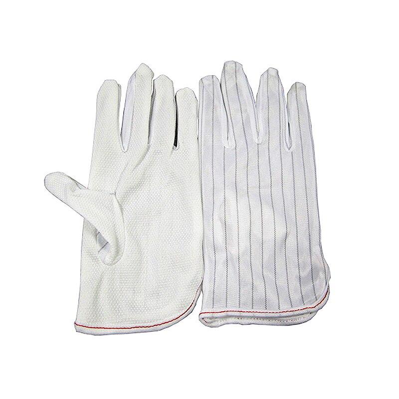 ESD Antiskid White Gloves New Polyester Gloves BGA Repairing Soldering Working Kits