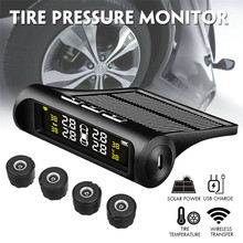 Buy Waterproof Wireless Solar Auto Tire Pressure Monitoring System Car TPMS for Truck SUV Van Tractor Truck Camper Trailer & RV directly from merchant!