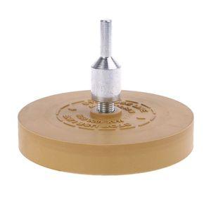 """Image 1 - Goma de borrar almohadilla de rueda con adaptador de taladro rueda de pulido de 88mm removedor de calcomanías de 1/4 """"para calcomanías de coche pegatinas de vinilo QuickRemovalToo"""