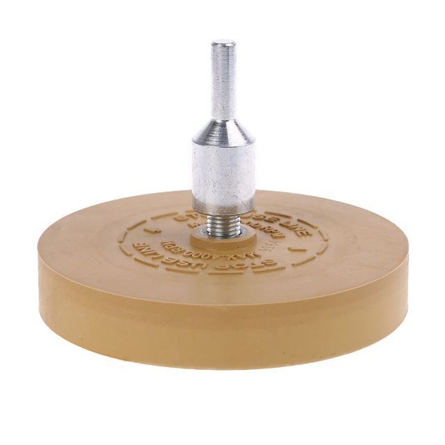 """Goma de borrar almohadilla de rueda con adaptador de taladro rueda de pulido de 88mm removedor de calcomanías de 1/4 """"para calcomanías de coche pegatinas de vinilo QuickRemovalToo"""