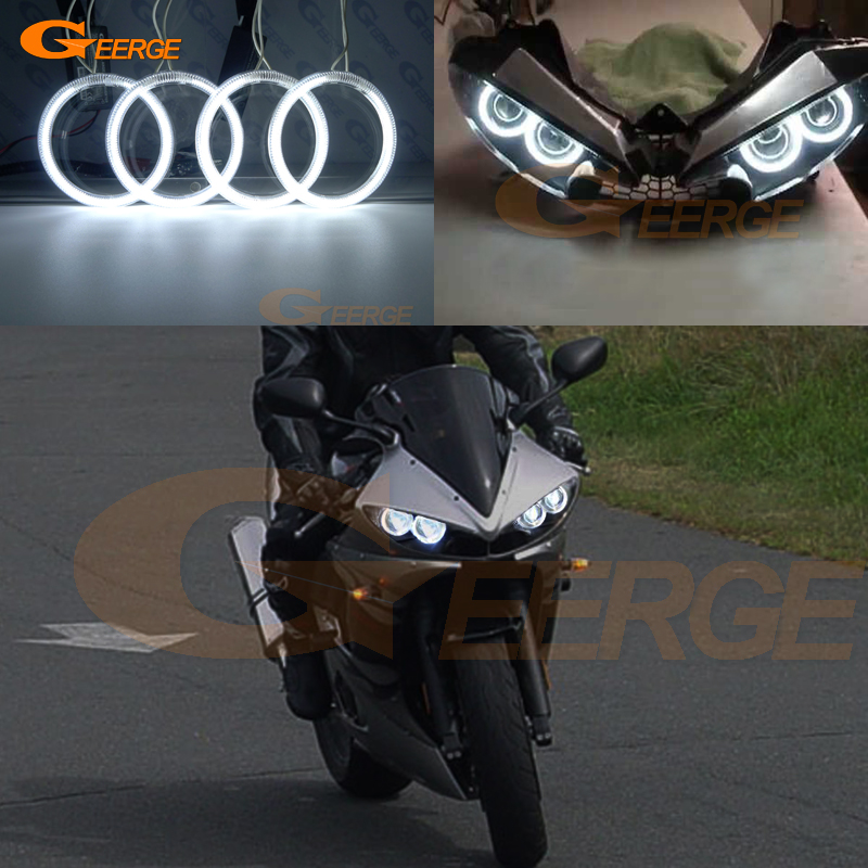 For Yamaha Yzf R6 03 04 05 R6S 06 07 08 09 Excellent Ultra Bright CCFL Angel Eyes Kit Halo Rings