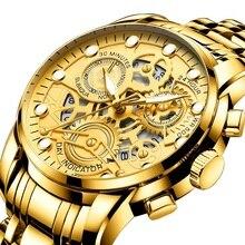 Fashion Hollow Men's Watch Husband Present For Men Skeleton Wrist watches Waterproof