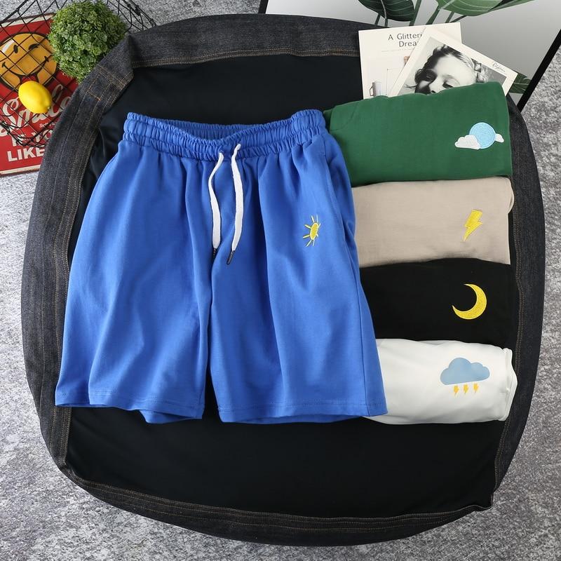 Hot 2020 Summer Men's Shorts Fashion Weather Printing Sweatpants Leisure  Elastic Waist Bodybuilding Workout  Loose Shorts Men