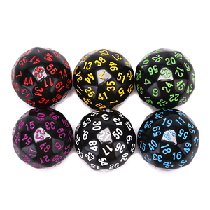 1Pcs 60 Face Dice For Game Polyhedral D60 Multi Sided Acrylic Dice Gift For Game Lovers Game Party Entertainment Equipment