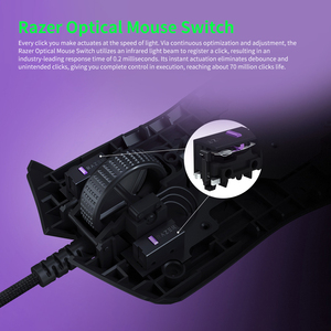 Image 4 - Razer Viper Wired Gaming Mouse 16000DPI RGB Computer Mice PAW3390 Optical Sensor 60g Lightweight SpeedFlex Cable DPI for PC