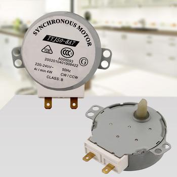 TYJ50-8A7 mikrofalowy silnik synchroniczny gramofon obrotowy silnik płytkowy do mediów akcesoria do części mikrofalowych tanie i dobre opinie CN (pochodzenie) Części kuchenka mikrofalowa Synchronous Motor for Media Microwave Turntable Turn Plate Motor AC 220V-240V
