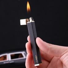 Gas Lighters Windproof Straight Blue Flame Cigar Creative Metal Lighter Butane Torch Gadgets for Men Men Gift недорого
