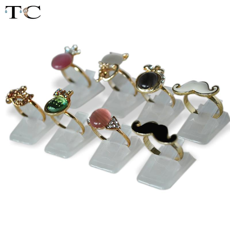 Wholesale Plastic Frosted Jewelry Displays Holder For Ring, Decoration Stand 2pcs/Lot Free Shipping