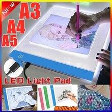 A3/a4/a5 led placas de desenho placa de rastreamento cópia almofadas led desenho tablet placa arte mesa de escrita três escurecimento artcraft caixa de luz