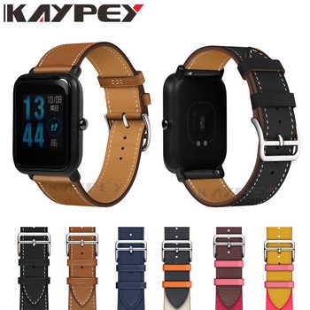 Neue 20mm Fashion Echtes Leder Uhr Band Strap für Xiaomi Huami Amazfit Bip BIT TEMPO Lite Jugend Ersatz Handgelenk band strap