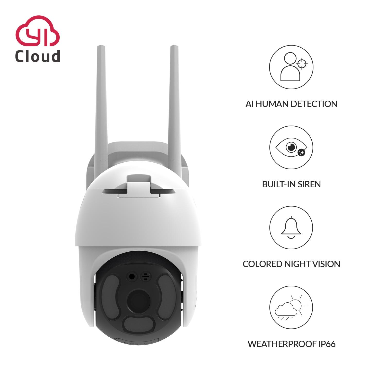 YI 1080P PoE IP PTZ наружная камера Wifi цифровой зум Авто AI человека отслеживания Беспроводной IP камера Аудио ИК Ночное Видение безопасности CCTV Cam