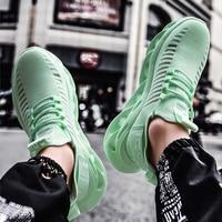 أحذية رجالي كرة السلة شبكة جوفاء منصة أحذية رياضية رجل التطريز سوبر ستار أحذية رياضية موضة الأخضر الأبيض أحذية مشي-في أحذية مطاطية رجالي من أحذية على