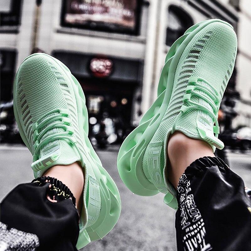 Men's Shoes Basketball Mesh Hollow Platform Sneakers Man Embroider Super Star Sports Shoes Fashion Green White Walking Shoes
