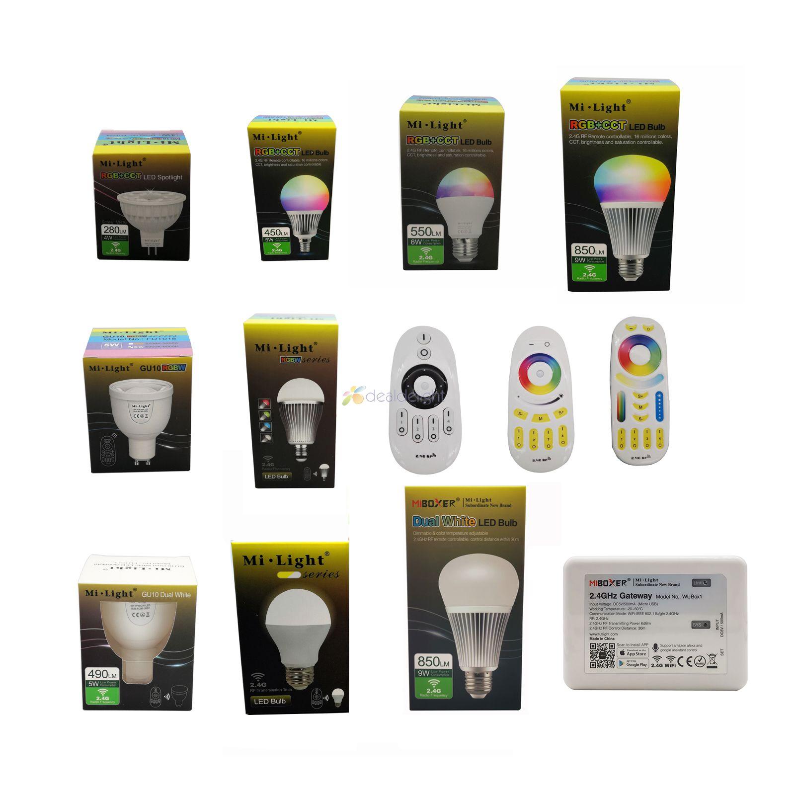 Mi. Светильник 2,4 г 4 Вт 5 Вт 6 Вт 9 Вт 12 Вт Светодиодная лампа, MR16 GU10 E14 E27 Светодиодная лампа Smart Беспроводной CCT RGBW RGBWW RGB + CCT светодиодный светильн...