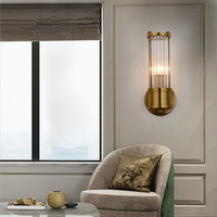 Lustre Crystal Wall Lamp Bronze Bedroom Led Wall Lights Fixtures Living Room Wall Light Corridor Wall Sconce