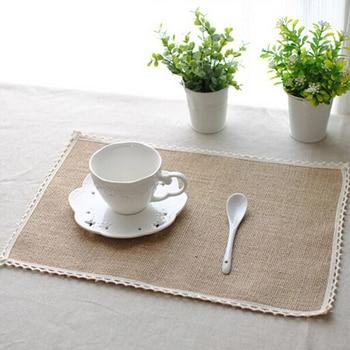 Dinner Table Mats Pads Natural Jute Placemats Mat Kitchen Dining Decor Accessories - discount item  24% OFF Kitchen,Dining & Bar