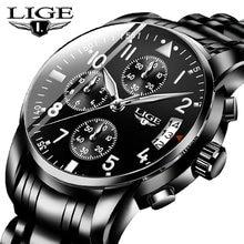 Lige 2020 мужские часы лучший бренд класса люкс модные деловые