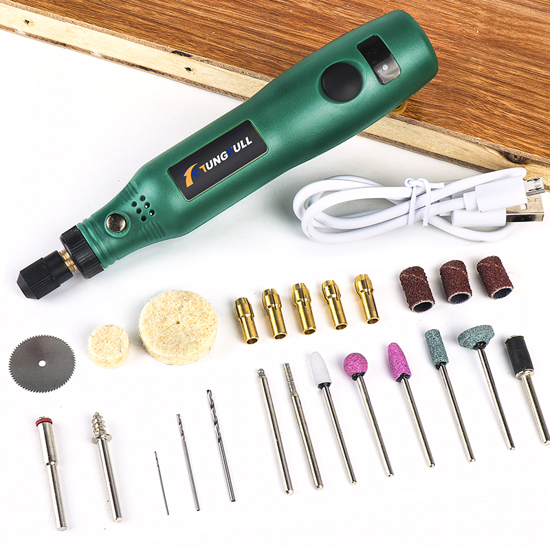 TUNGFULL Cordless Rotary Tool USB Woodworking Engraving Pen DIY For Jewelry Metal Glass Wireless Drill Mini Electric Drill