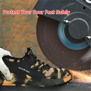 Image 4 - Safety Work Shoes Mens Sneakers With Steel Toe Cap Camouflage Indestructible Shoes Lightweight Breathable Working Boots