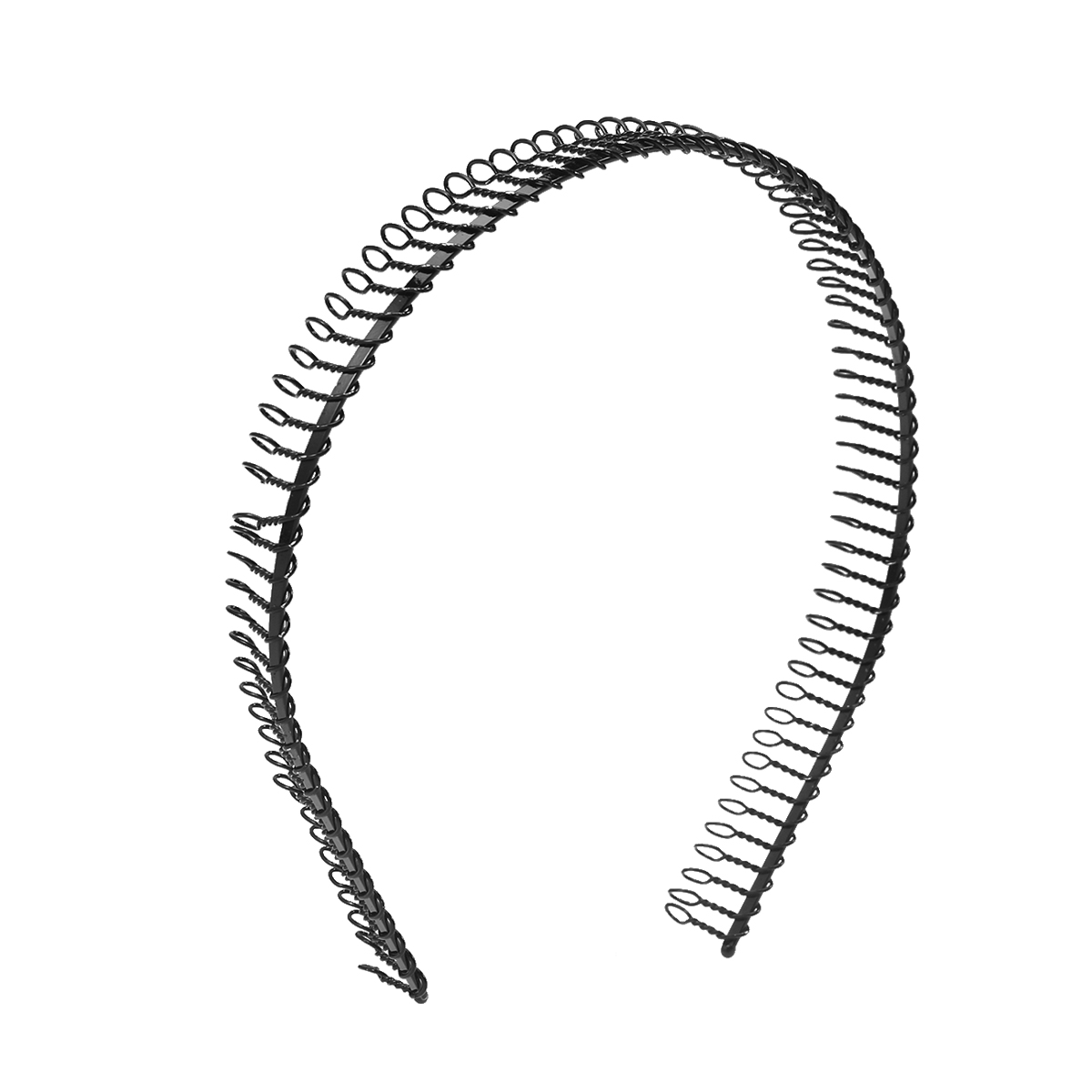 New Practical Black Metal Teeth Comb Hairband Headband For Woman