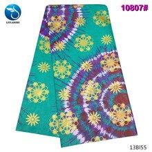 LIULANZHI Nigerian Riche Fabric for Cloth 2019 Polyester Bazin Women Dress Cheaper 13Bl55