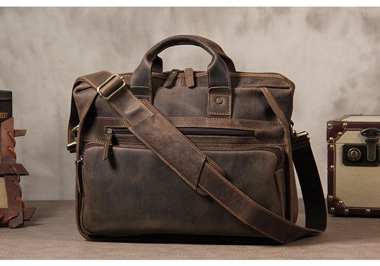 Hb0de7eb092b047a0ab87b7f937dc291dB MAHEU Vintage Leather Mens Briefcase With Pockets Cowhide Bag On Business Suitcase Crazy Horse Leather Laptop Bags 2019 Design