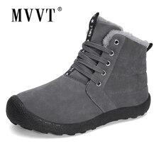 Winter Boots Shoes Suede Waterproof Plus-Size Pig for Men Fur