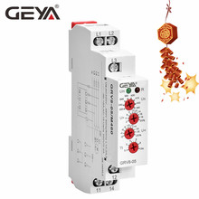 GEYA GRV8-05 Adjustable Overvoltage and Undervoltage Protection Relay wit Asymmerty Function Three Phase Monitoring Relay 220V the phase protection relay 380v power broken phase fault phase overvoltage and undervoltage detection monitoring rd6 w