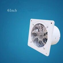 6 дюймов 40 Вт 220 В высокоскоростной вытяжной вентилятор, вентилятор для туалета, кухни, ванной комнаты, подвесной настенный вентилятор, вентилятор для вытяжки воздуха