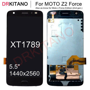 """Image 1 - 5.5"""" Display For Motorola Moto Z2 Force XT1789 LCD Display Touch Screen Digitizer Assembly With Frame For MOTO XT1789 LCD"""
