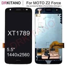 """5.5 """"จอแสดงผลสำหรับ Motorola Moto Z2 FORCE XT1789 จอแสดงผล LCD หน้าจอสัมผัส Digitizer ประกอบกับกรอบสำหรับ MOTO XT1789 LCD"""