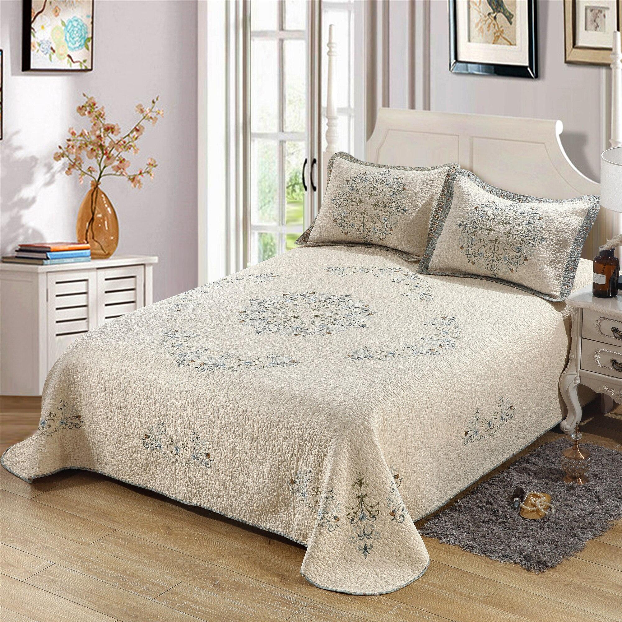 Бесплатная доставка Американский дворец вышитые стиль 3 шт. лоскутное одеяло полный/королева король супер размер кондиционер покрывало H