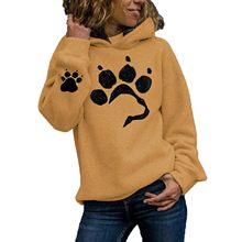 Chaud doux complet vestes à capuche femmes automne hiver épais sweat décontracté chat patte Harajuku pull à manches longues mince polaire à capuche
